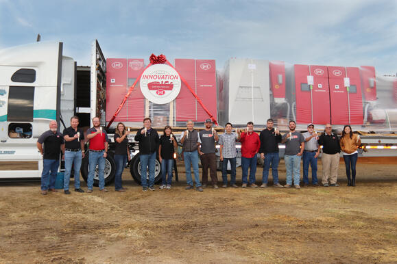 Celebrating the delivery of Lely North America's 5,000th Lely Astronaut