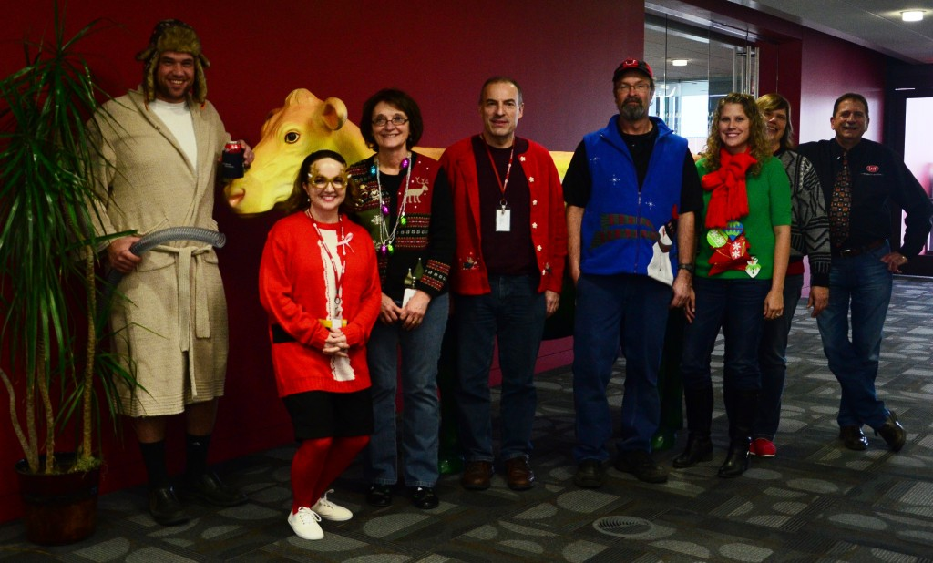Dec19Lely employee Christmas lunch 2014 019 - Edited Christmas apparel contestants