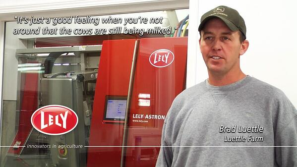 Brad Luettle says It's just a good feeling when you're not around that the cows are still being milked.