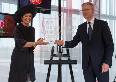 Queen Máxima opening the Lely Greenest Innovation Campus.