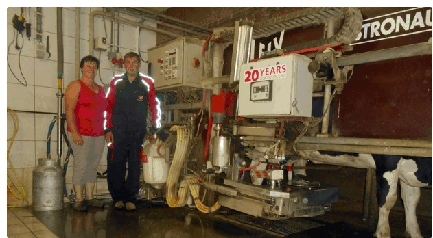 First Lely Astronaut robotic milking system
