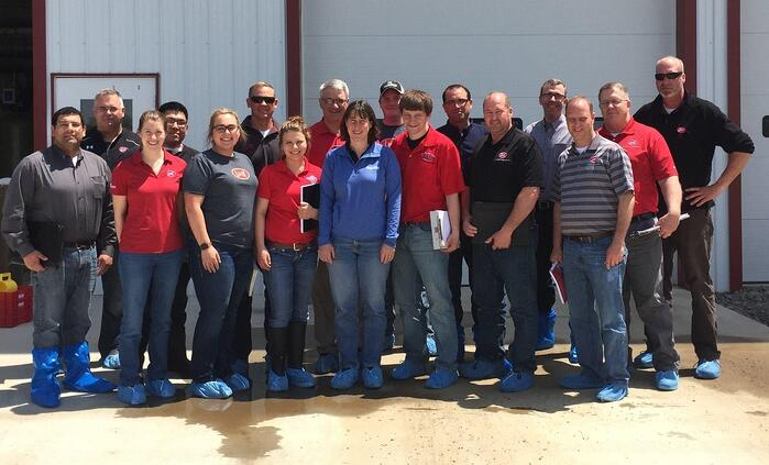 Jackie Plank with the Lely team