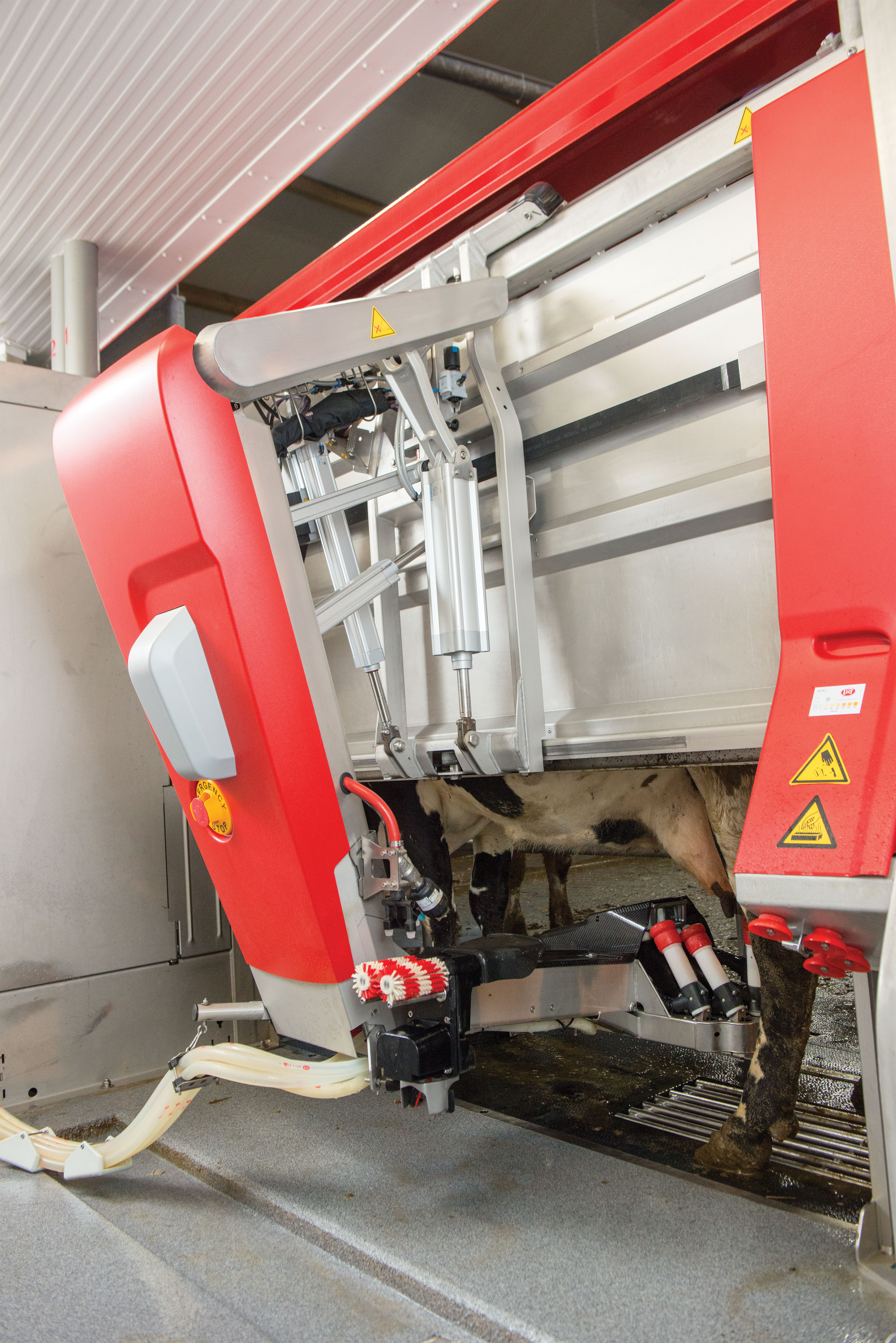 The Lely Astronaut A5 milking robot features an improved arm that is more energy efficient.