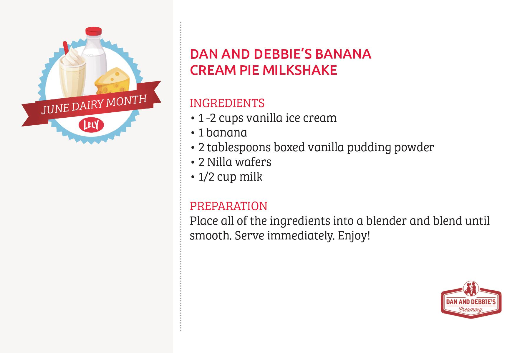 Dan and Debbies Banana Cream Pie Milkshake