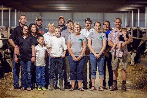 Houin family at Homestead Dairy