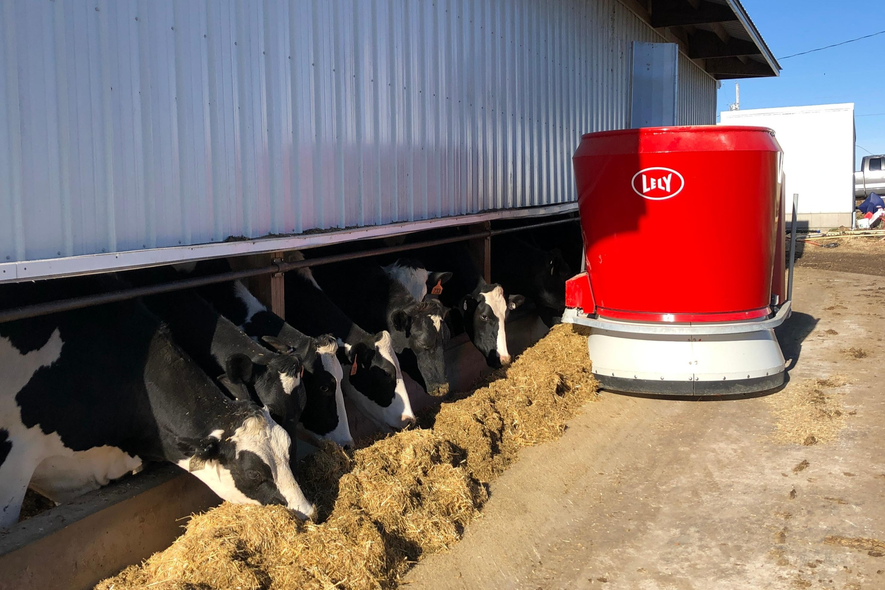 Lely Vector automatic feeding system at Honey Creek Dairy