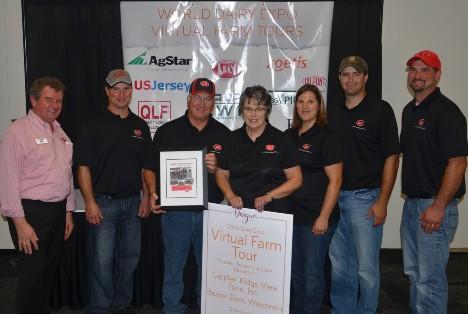 Lepple family participates in the World Dairy Expo Virtual Farm Tour.