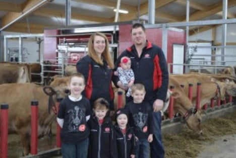 Regele family in their robotic dairy barn